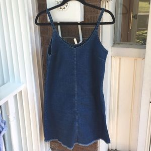 2for20 AEO Denim Mini Dress w Raw Hem